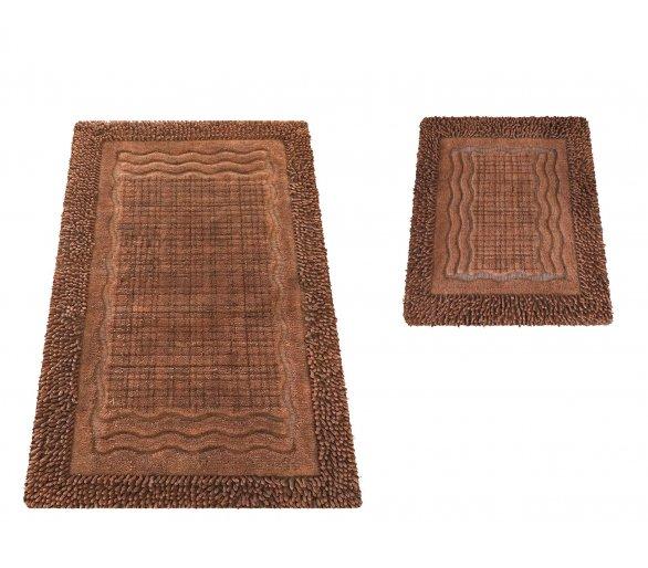 Komplet dywaników łazienkowych Boston 01N Brąz