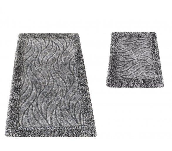 Komplet dywaników łazienkowych Boston 03N szary