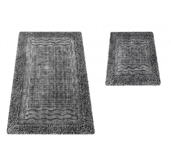 Komplet dywaników łazienkowych Boston 01N szary
