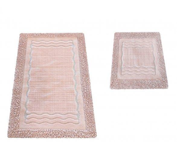 Komplet dywaników łazienkowych Boston 01N Pudra